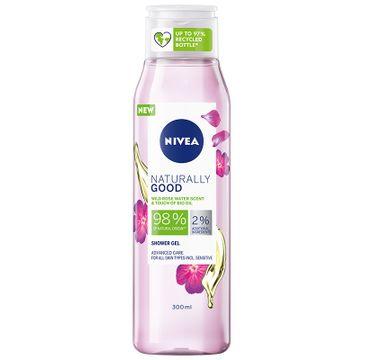 Nivea Żel pod prysznic Naturally Good o zapachu kwiatów dzikiej róży z BIO olejkiem (300 ml)