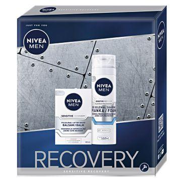 Nivea Men Zestaw prezentowy Sensitive Recovery balsam po goleniu 100ml+pianka do golenia 200ml (1 szt.)
