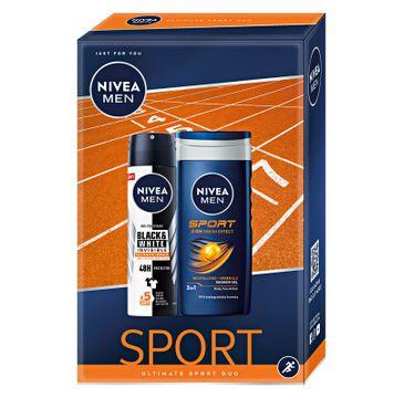 Nivea Men Zestaw prezentowy Ultimate Sport deo spray Black&White 150ml+żel pod prysznic Sport 250ml (1 szt.)