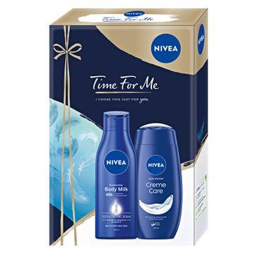 Nivea Zestaw prezentowy Time For Me żel pod prysznic Creme Care 250ml+mleczko do ciała 250ml  (1 szt.)