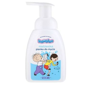 Bambino – Niebieska pianka do mycia dla dzieci (250 ml)