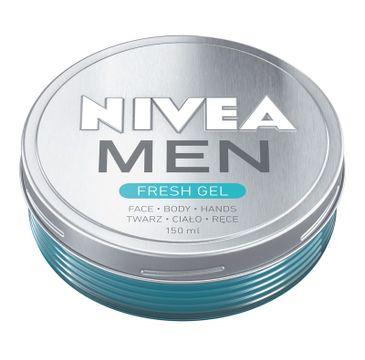 Nivea Men – Krem-żel nawilżający do twarzy, ciała i rąk Fresh (150 ml)