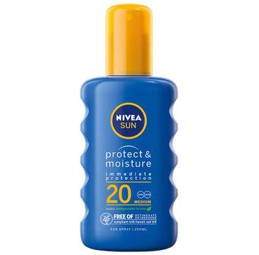 Nivea Sun Nawilżający balsam w sprayu do opalania SPF 20 (200 ml)