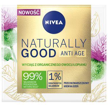 Nivea Naturally GoodNaturally Good Anti Age przeciwzmarszczkowy krem na dzień z organicznym owocem łopianu (50 ml)