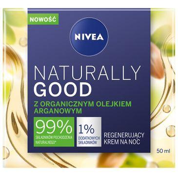 Nivea Naturally Good regenerujący krem na noc z organicznym olejkiem arganowym (50 ml)
