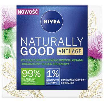 Nivea Naturally Good Anti Age przeciwzmarszczkowy krem na noc z organicznym owocem łopianu (50 ml)
