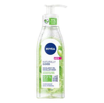 Nivea Naturally Good Micellar Wash micelarny żel do mycia twarzy (140 ml)