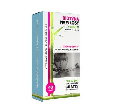 Noble Health Biotyna na włosy + krzem suplement diety 40 tabletek