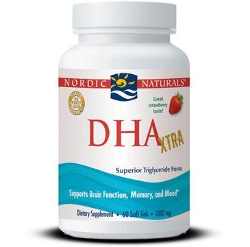 Nordic Naturals DHA Xtra suplement diety o smaku truskawkowym 60 kapsułek