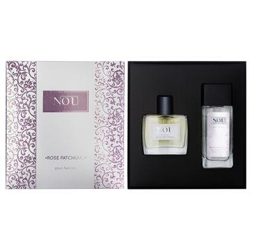 Nou pour Femme Rose Patchouli zestaw prezentowy dezodorant w szkle 50 ml + woda toaletowa 50 ml