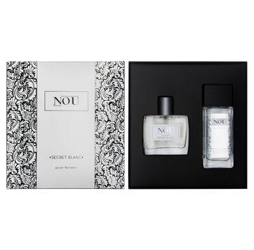 Nou pour Femme Secret Blanc zestaw prezentowy dezodorant w szkle 50 ml + woda perfumowana 50 ml
