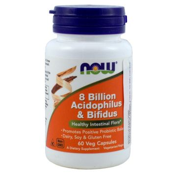 Now Foods 8 Billion Acidophilus & Bifidus suplement diety 60 kapsułek