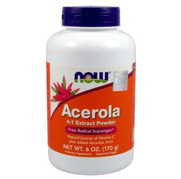 Now Foods Acerola ekstrakt 4:1 suplement diety 175g