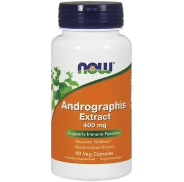 Now Foods Andrographis Extract 400mg suplement diety 90 kapsułek