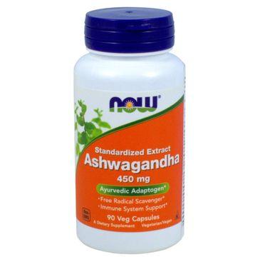 Now Foods Ashwagandha 450mg suplement diety 90 kapsułek