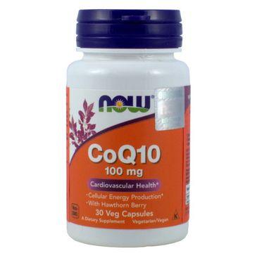 Now Foods CoQ10 100mg koenzym Q10 + głóg suplement diety 30 kapsułek