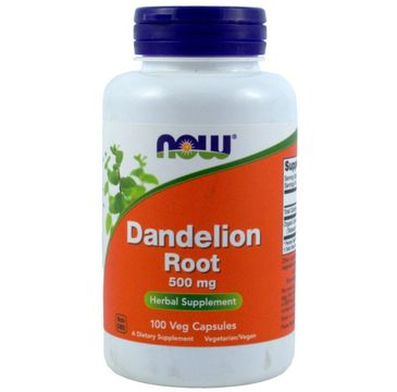 Now Foods Dandelion Root 500mg suplement diety 100 kapsułek