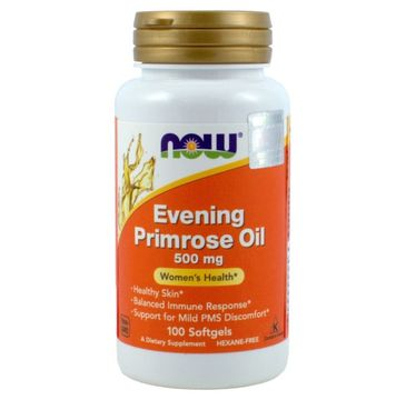 Now Foods Evening Primrose Oil 500mg olej z wiesiołka suplement diety 100 kapsułek