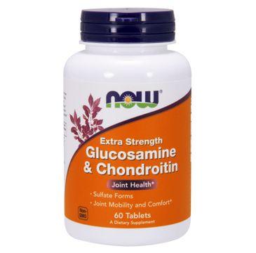 Now Foods Glukosamine & Chondroitine suplement diety 60 tabletek