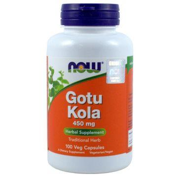 Now Foods Gotu Kola 450mg suplement diety 100 kapsułek