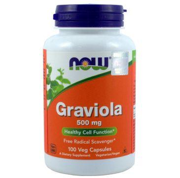 Now Foods Graviola 500mg suplement diety 100 kapsułek