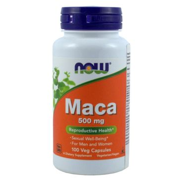 Now Foods Maca 500mg suplement diety 100 kapsułek