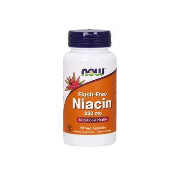 Now Foods Niacyna Flush Free 250mg niacyna suplement diety 90 kapsułek