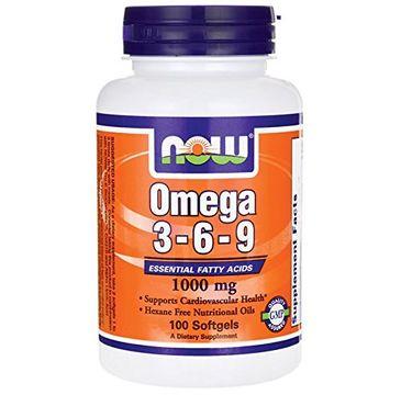 Now Foods Omega 3-6-9 1000mg suplement diety 100 kapsułek