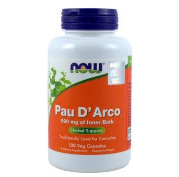 Now Foods Pau D'Arco 500mg suplement diety 100 kapsułek