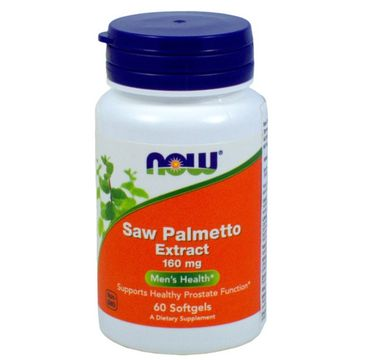 Now Foods Saw Palmetto Extract 160mg suplement diety 60 kapsułek