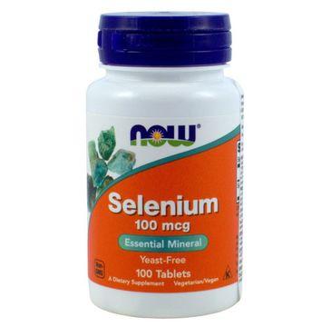 Now Foods Selenium 100mcg selen suplement diety 100 tabletek