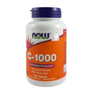 Now Foods Witamin C-1000 With Rose Hips suplement diety 100 tabletek