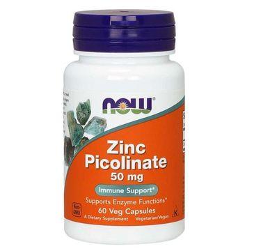 Now Foods Zinc Picolinate 50mg pikolinian cynku suplement diety 60 kapsułek