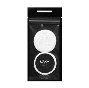 NYX Professional MakeUp Compact Powder Puff gąbeczka do pudru 2szt