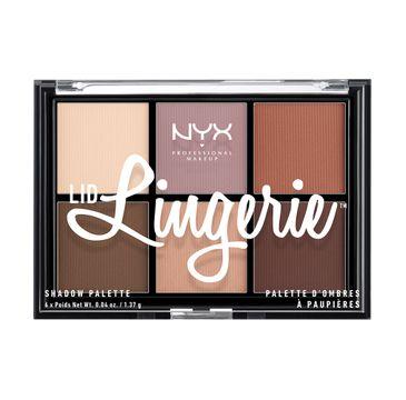 NYX Professional MakeUp Lid Lingerie Shadow Palette paleta matowych cieni do powiek 8.22g