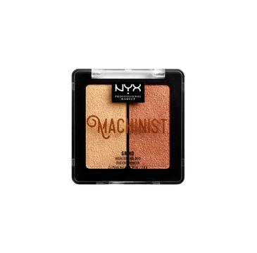 NYX Professional MakeUp Machinist Highlighting Duo podwójny rozświetlacz do twarzy Grind 2x2.8g