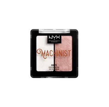 NYX Professional MakeUp Machinist Highlighting Duo podwójny rozświetlacz do twarzy Ignite 2x2.8g