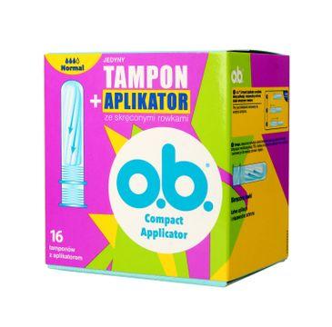 O.B.ProComfort Compact Applicator Normal Tampony z aplikatorem 1op.-16szt