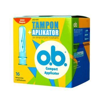 O.B.ProComfort Compact Applicator Super Tampony z aplikatorem 1op.-16szt