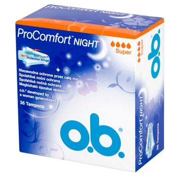 O.B. ProComfort Night Super tampony 36szt