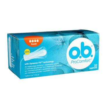 O.B. ProComfort Super Dynamic Fit tampony higieniczne 1 op. - 32 szt.