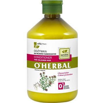 O'Herbal odżywka do włosów farbowanych z macierzanką i tymiankiem 500 ml
