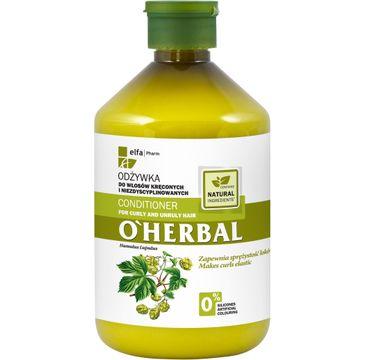 O'Herbal odżywka do włosów kręconych i niezdyscyplinowanych z chmielem 500 ml
