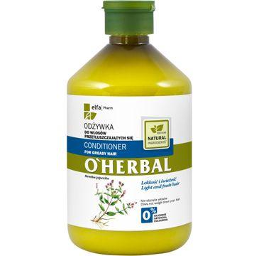 O'Herbal odżywka do włosów przetłuszczających się mięta 500 ml