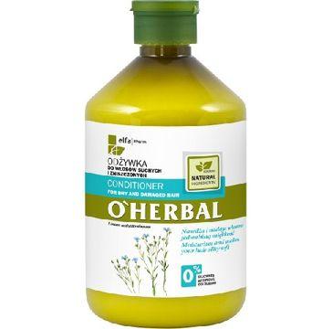O'Herbal odżywka do włosów suchych i zniszczonych z lnem 500 ml