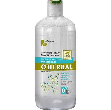 O'Herbal Płyn micelarny dla cery suchej Len 500 ml