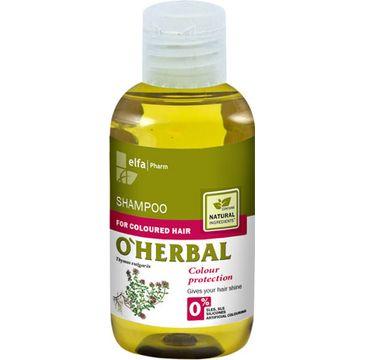 O'Herbal szampon do włosów farbowanych z ekstraktem z macierzanki i tymianku 75 ml