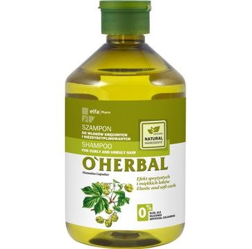 O'Herbal szampon do włosów kręconych i niezdyscyplinowanych z chmielem 500 ml