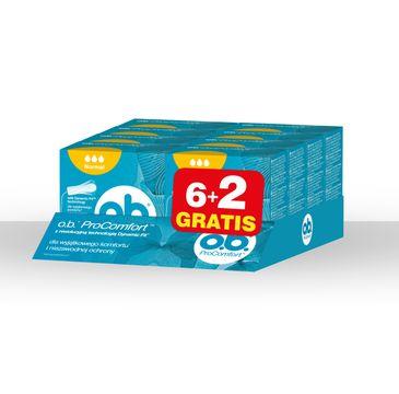 O.B. ProComfort Normal komfortowe tampony (6+2 gratis) 8 op. x 8 szt.