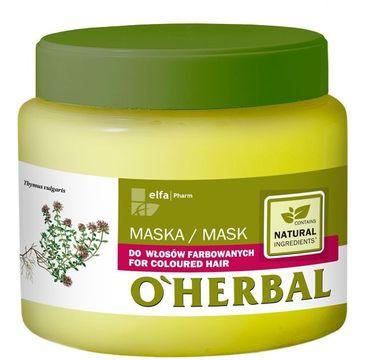 O'Herbal maska do włosów farbowanych odżywiająca 500 ml